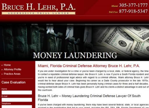 Bruce H. Lehr, P.A. - Money Laundering