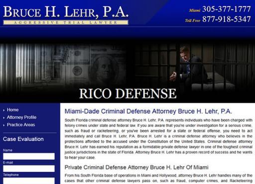 Bruce H. Lehr, P.A. - RICO Defense