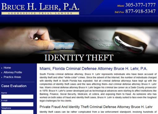 Bruce H. Lehr, P.A. - Identity Theft