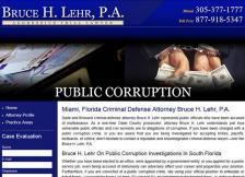 Bruce H. Lehr, P.A. - Public Corruption
