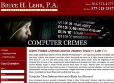 Bruce H. Lehr, P.A. - Computer Crimes