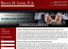 Bruce H. Lehr, P.A. - Embezzlement