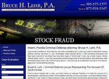 Bruce H. Lehr, P.A. - Stock Fraud